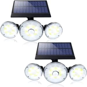 EXF Store Outdoor Solar Motion Lights 2-Pack for $22