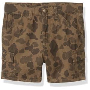 Carhartt Boys' Cargo Shorts, Green Duck Camo, 16 for $23