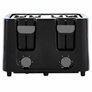Continental Electric CE-TT029 Toaster, 4 Slice, Black for $36