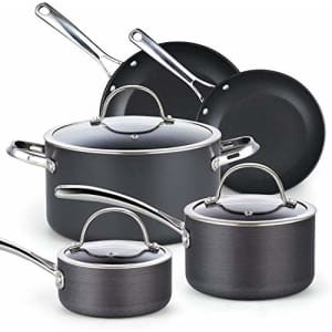 Cooks Standard Nonstick Hard Anodized Cookware Set, 8 Piece, Black for $150