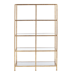 """Home Decorators Collection 62"""" 4-shelf Double Accent Bookcase for $209"""