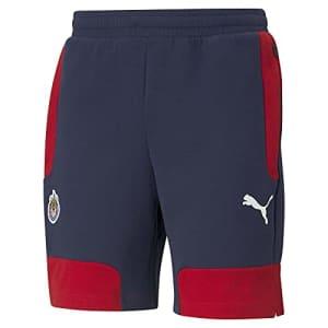 PUMA Men's Standard CHG EVOSTRIPE Shorts, Peacoat-Tango Red, Medium for $30