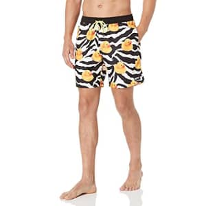 NEFF Men's Standard Daily Hot Tub Board Shorts for Swimming, Island Ducky, Medium for $39