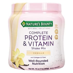 Nature's Bounty Complete Protein & Vitamin Shake Mix with Collagen & Fiber, Contains Vitamin C for for $13