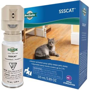 PetSafe SSSCAT Motion-Activated Spray Dog and Cat Deterrent for $40