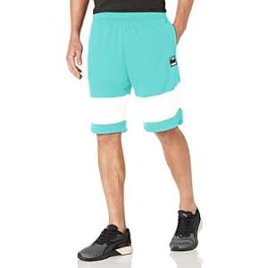PUMA Men's Ultimate Shorts, Elektro Pool/White, S for $13