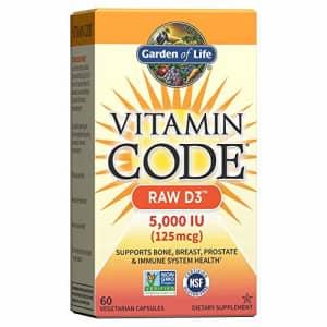 Garden of Life Vitamin D, Vitamin Code Raw D3, Vitamin D 5,000 IU, Raw Whole Food Vitamin D for $30