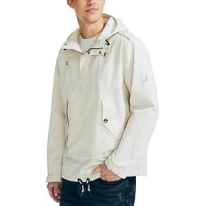 Nautica Men's Pinstripe Hooded Anorak Jacket for $37