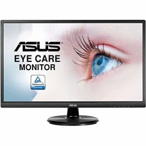 Asus VA249HE 23.8 Full HD 1080P HDMI VGA Eye Care Monitor with 178 Wide Viewing Angle,Black for $172