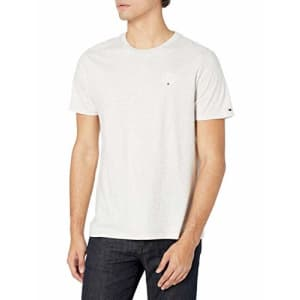 Tommy Hilfiger Men's Short Sleeve-Graphic T Shirt, ABK02BL Heather, XS for $20