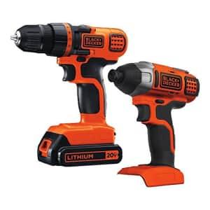 Black + Decker 20V MAX Cordless Drill 2-Tool Combo Kit for $69