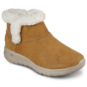 Skechers Women's On The Go Joy Bundle Up Wide Width Boots for $35