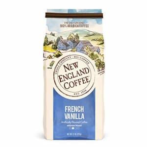 New England Coffee French Vanilla Medium Roast Ground Coffee 11 oz. Bag for $5