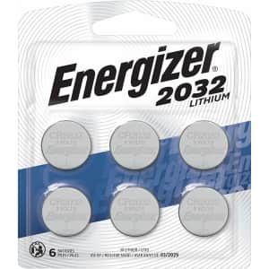 Energizer 2032 3V Lithium Coin Battery 6-Pack for $7.31 via Sub & Save
