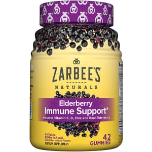 Naturals Adult Elderberry Immune Support 42-Count Bottle for $12