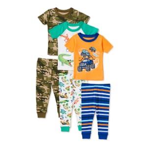 Wonder Nation Boys' 2-Piece Pajama 3-Pack for $9