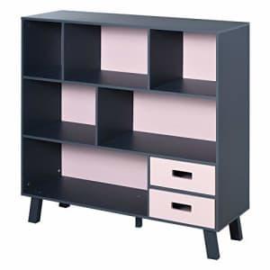 HOMCOM 3-Tier Child Bookcase Open Shelves Cabinet Floor Standing Home Office Storage Furniture for $110