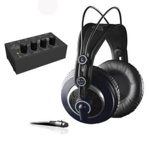 AKG K 240 MK II Professional Semi-Open Stereo Headphones with Behringer HA-400 Headphone Amplifier for $149