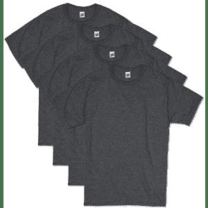 Hanes Men's ComfortSoft Short Sleeve T-Shirt 4-Pack for $12