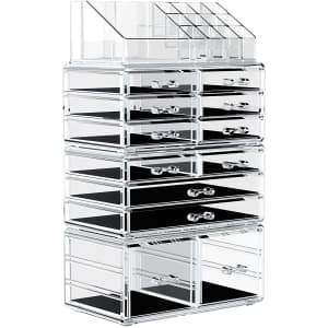 Yitahome Large Acrylic Makeup Organizer for $17