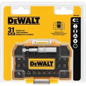 DeWalt 31-Piece Security Bit Set for $15