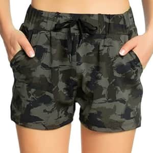 Kcutteyg Women's Athletic Shorts w/ Pockets for $10