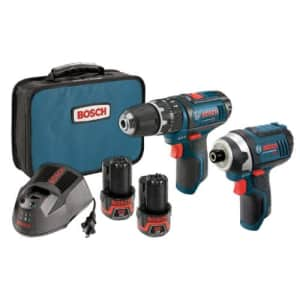 Bosch 12-Volt Max Lithium-Ion 2-Tool Cordless Combo Kit CLPK241-120 for $246