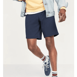 Old Navy Men's Go-Dry French Terry Performance Jogger Shorts for $9 in cart