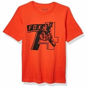 Fox Head Fox Men's T-Shirt, Atomic Orange, YS for $8