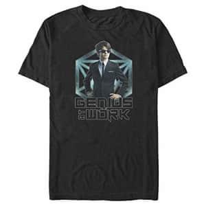 Disney Men's Artemis Fowl Hero Shot T-Shirt, Black, Large for $14