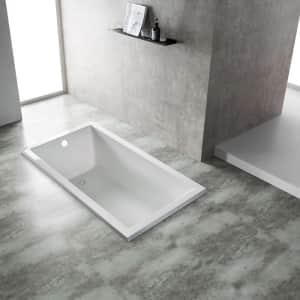 Eviva Teddy Drop-In Soaking Acrylic Bathtub for $430