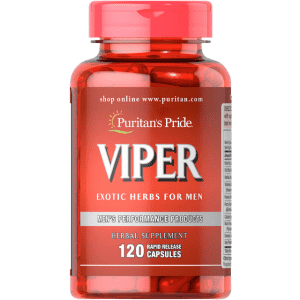 Puritan's Pride Men's Viper Exotic Herbs 120-Capsule Bottle: 3 for $22