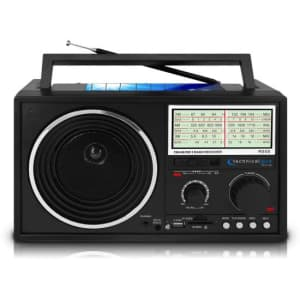 Technical Pro Portable Solar Shortwave AM/FM Radio for $40
