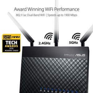 Asus AC1900 Dual Band Gigabit WiFi Router with MU-Mimo, Aimesh for Mesh WIFI System, Aiprotection for $130