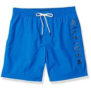 "Tommy Hilfiger Men's 7"" Swim Trunks, Dynamic Blue, XL for $38"