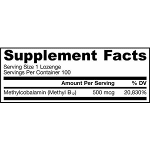 Jarrow Formulas Methyl B-12 500 mcg, Supports Brain Cells & Nerve Tissue, 100 Lozenges for $16