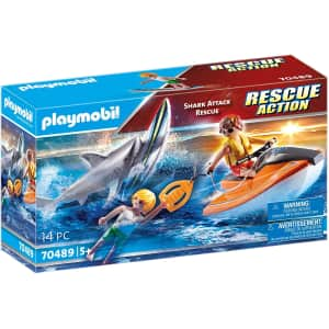 Playmobil Shark Attack and Rescue Boat for $12