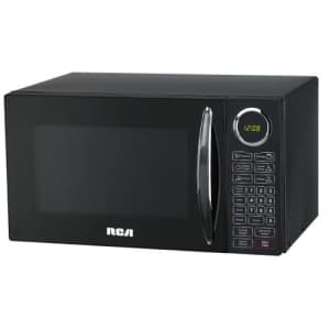 RCA RMW953-BLACK RMW953 0.9-Cubic Feet Microwave Oven with Oversized Display, Black for $181