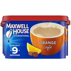Maxwell House International Cafe Orange Instant Coffee (9.3 oz Canisters, Pack of 4) for $40