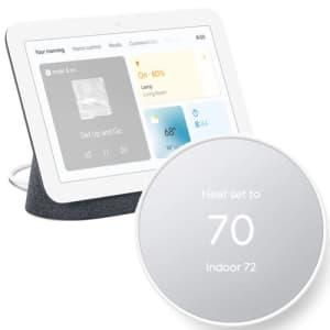 Google Nest Thermostat (2020) and 2nd-Gen. Google Nest Hub Smart Display Bundle for $149