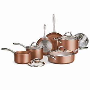 Tramontina 11-Piece Metallic Copper Nonstick Cookware Set for $114