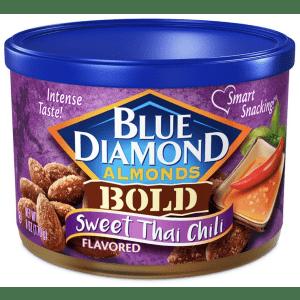 Blue Diamond 6-oz. Bold Sweet Thai Chili Almonds for $5