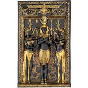 """Design Toscano Egyptian Pharaoh and His Maidens 16"""" x 9.5"""" Wall Sculpture for $82"""