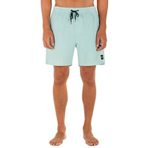 """Hurley Men's One and Only Solid 17"""" Volley Board Short, Light Dew, Medium for $26"""