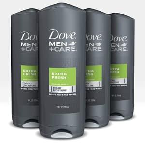 Dove Men+Care 18-oz. Body & Face Wash 4-Pack for $14 via Sub & Save