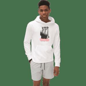Aeropostale Men's Brooklyn Bridge Pullover Hoodie for $15
