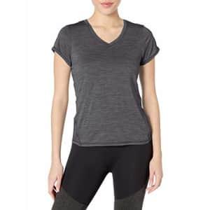 HEAD Women's Short Sleeve Workout T-Shirt - Performance Tennis Activewear Top, Emily Medium Grey for $23