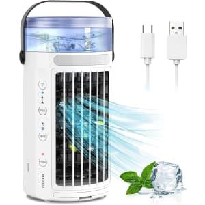 Maxrock Mini Evaporative Air Cooler for $36