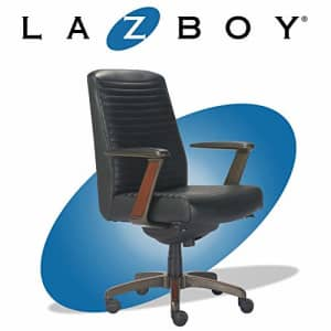 La-Z-Boy Emerson Modern Executive Office Chair with Rich Wood Inlay, Ergonomic High-Back Lumbar for $793
