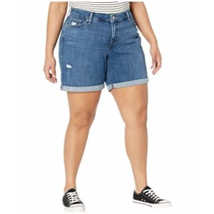 Levi's Women's Plus-Size New Shorts, Hawaii Ocean, 38 (US 18) for $27